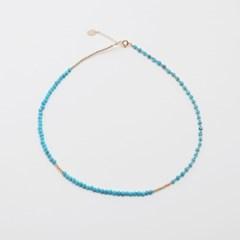 14K gold-filled blue necklace