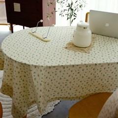 플로르 플라워 면 식탁보 테이블보