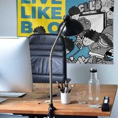 BO's LIFE 대형 패브릭 포스터 카페 홈 작업실 인테리어용