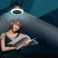 LED 조명 무선 선풍기 무드등 캠핑 벽걸이 풍량조절 리모컨