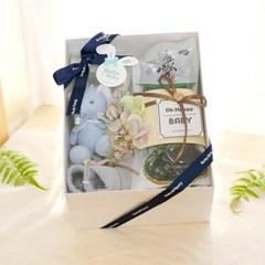 [딸랑이세트] 기장미역 딸랑이 선물세트_블루 (출산선물 백일 돌)