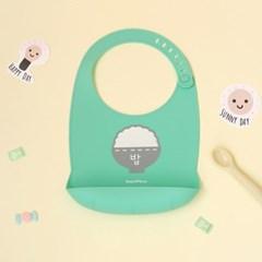 [아기옷선물패키지] 실리콘 턱받이 바디슈트 세트_왕자 (출산선물)