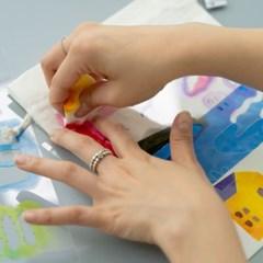 패브릭 파우치 스텐실 키트(Fabric Pouch Stencil Kit) / 서희 작가