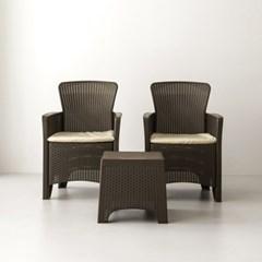 야외용 테라스 테이블 의자 2인 SET f