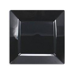 플라스틱 일회용접시 사각 블랙 (대), (소) 6P