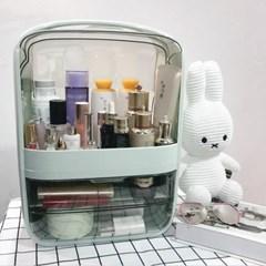 퓨어티 2단서랍 뚜껑 화장품정리함(30x40cm) (민트)