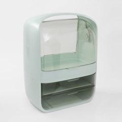 퓨어티 2단서랍 뚜껑 화장품정리함(26x36cm) (민트)
