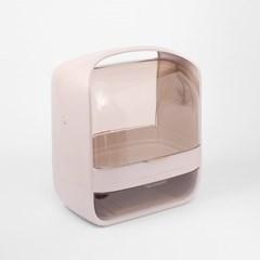 퓨어티 1단서랍 뚜껑 화장품정리함(인디핑크)
