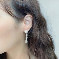 [드앙땅] 투웨이 진주 드롭 귀걸이/롱 드롭 귀걸이