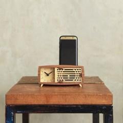 우드썸 레트로라디오시계 [실제로 사용하는 원목3D퍼즐] DIY