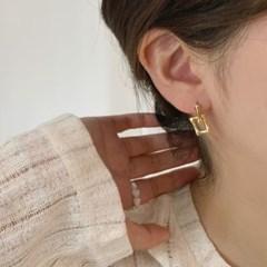더블 사각체인 트윈 데일리 드롭 귀걸이