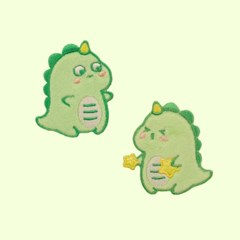 귀여운 아기옷 꾸미기 리폼와펜 양말 가방 귀여운공룡