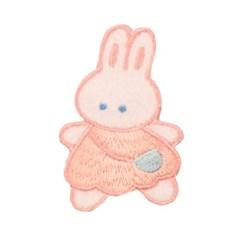 토끼모양와펜 자수패치 브로치 귀여운래빗