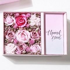 비누꽃 용돈박스 용돈봉투 2종 핑크