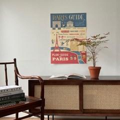 카발리니 일러스트 빈티지포스터 Paris guide