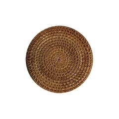 모래알 다관 받침 - 도자기 & 등나무 티트레이