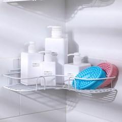 공간활용 접착식 수납 모서리 코너선반(화이트)