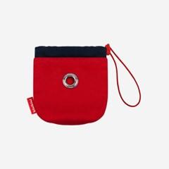 ORIGINAL COLOR BLOCK POOP POUCH-RED(파우치)