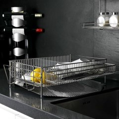 싱크대선반 그릇 설거지 물빠짐 식기건조대 원룸 접시정리대 컵
