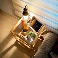 가구데코 강화유리 원목 침대 거실협탁 GM0236
