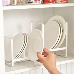 [리본제이] 리메이크 주방수납 그릇정리대 접시꽂이 L x 2P세트