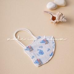 [아이다움] 국산 3겹 돌고래 어린이마스크 유아마스크 캐릭터 마스크
