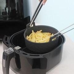 실리콘 에어프라이어 원형 용기 그릇 소 15cm 1개