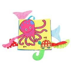 도도코 아기 바스락 촉감놀이 헝겊책 바다동물 꼬리