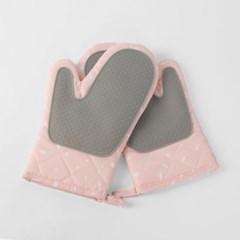 무핀 오븐 주방장갑 2p /패브릭 실리콘 냄비장갑