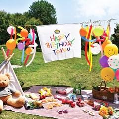 해피버쓰데이 생일 축하 패브릭 포스터 파티 가랜드