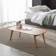 [리앳홈] 피치 소나무원목 라운딩 모던 접이식 테이블 900/1100