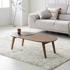 피넛 소나무원목 타원형 모던 접이식 테이블 900/1100