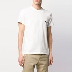 21FW 더블 폭스 패치 티셔츠 라떼 BU00103KJ0008 LT