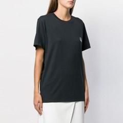21FW 여성 더블 폭스 패치 티셔츠 BU00103KJ0008 AN