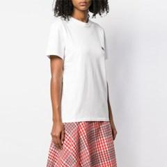 21FW 여성 더블 폭스 패치 티셔츠 BU00103KJ0008 LT