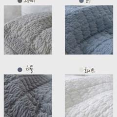 국내산 여름 패브릭 엠보싱 리플 소파패드 2인