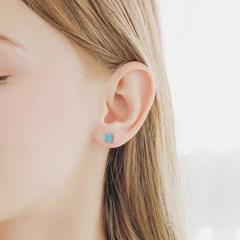 제이로렌 M03623 터키석 클로버 귀걸이