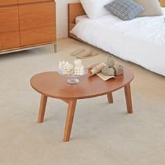 [리앳홈] 애플 북유럽 소나무원목 모던 접이식 거실 테이블 800