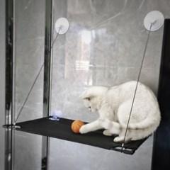 고양이 윈도우 부착 메쉬 해먹 강력흡착 캣해먹