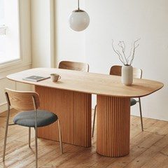 베네 오크 아일랜드 식탁 원목 테이블 5size