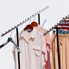지엔 백화점 옷가게 매장 철제 2열 3열 경사 코끼리 접이식행거