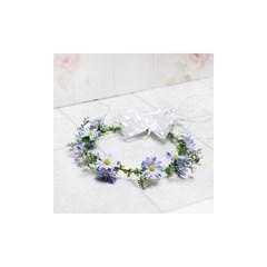 내추럴미니꽃앤-블루데이지화관(연보라)