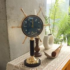 배 키모양 탁상시계 (아이보리 블루)