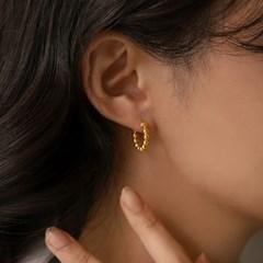 실버925 데일리 도트 볼 볼드 원터치 링 은 귀걸이