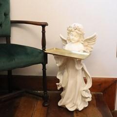 천사트레이 사이드테이블 천사조형물