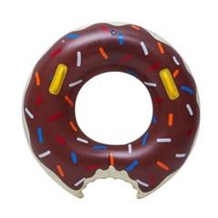 초코 딸기 도넛 디자인 성인용 물놀이 원형 튜브