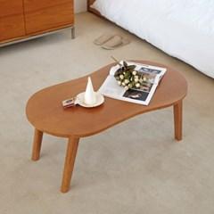 [리앳홈] 땅콩 북유럽 소나무원목 접이식 거실 테이블 800
