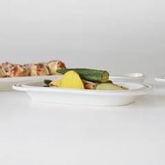 정품 시라쿠스 메이플 라인 둥근사각접시 20cm 2컬러