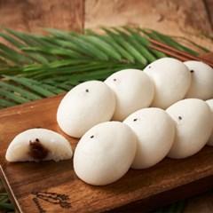 우리쌀로 만든 말랑쫀득 보름기정떡 혼합 구성(백미+쑥) 30알