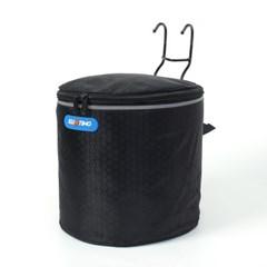 원통 핸들걸이식 자전거 바구니(23x32cm) (블랙)